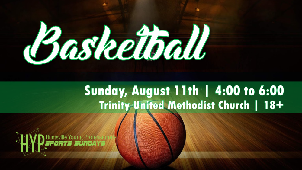 Our 8th and final sport of the summer will be Basketball. Show off your amazing hoop skills on August 11th from 4:00 to 6:00 PM at Trinity United Methodist Church. Half of the court will be used for a game while the other half will be used for just shooting around. Be sure to join the Facebook  Event  to stay up to date.