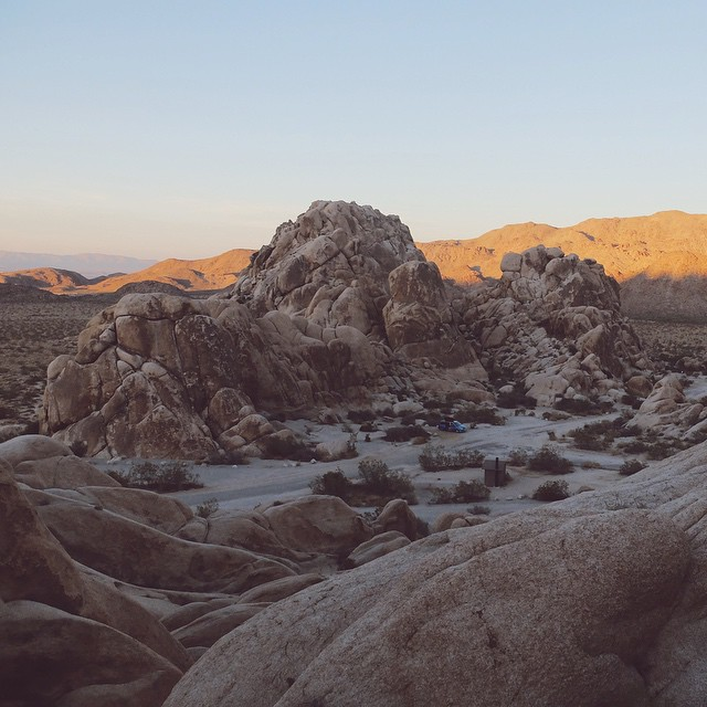 Camping at Joshua Tree #camping #nature #usa #roadtrip #sunset #summer #instasomething