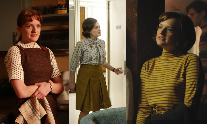 Peggy Olson. The strong, creative, and driven copy writer who worked her way up from frumpy secretary to being too damn good for all those the Mad Men men. Peggy's the kind of person who thinks she doesn't have a style, someone who cares too much about her work to worry about her clothes.But even she has to realize how many motifs run through her closet. Peggy was always into layering and tie-neck blouses. Plaids, stripes, and repetitive patterns all worked their way into her conservative work clothes. And by the end of the show her style was refined, hip, and as always, professional.2017 seems to be Peggy's fashion dream come true. We've got mustard-colored anything. We've got tie-neck blouses for days. We are in the golden time of business casual clothes. Peggy would be the best dressed creative at whatever hip office she'd work at in 2017.