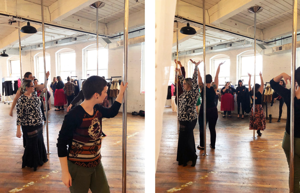 We teamed up with Zeal Aerial Fitness to teach our Betties a thing or two about moving your body on and off the pole. Zeal teaches a variety of fitness classes in our space and welcomes babes of all experience levels! Check out Zeal's  website  and  facebook !