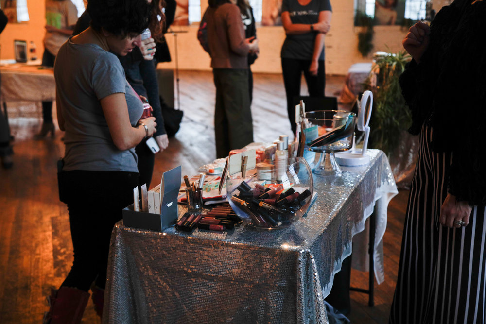 About Face of Grand Rapids  donated a gift card for one lucky bettie to embrace her beauty and enjoy an experience at About Face. Jenna was also available to discuss the services they provide and had a table full of cosmetics and beauty care items available to purchase!