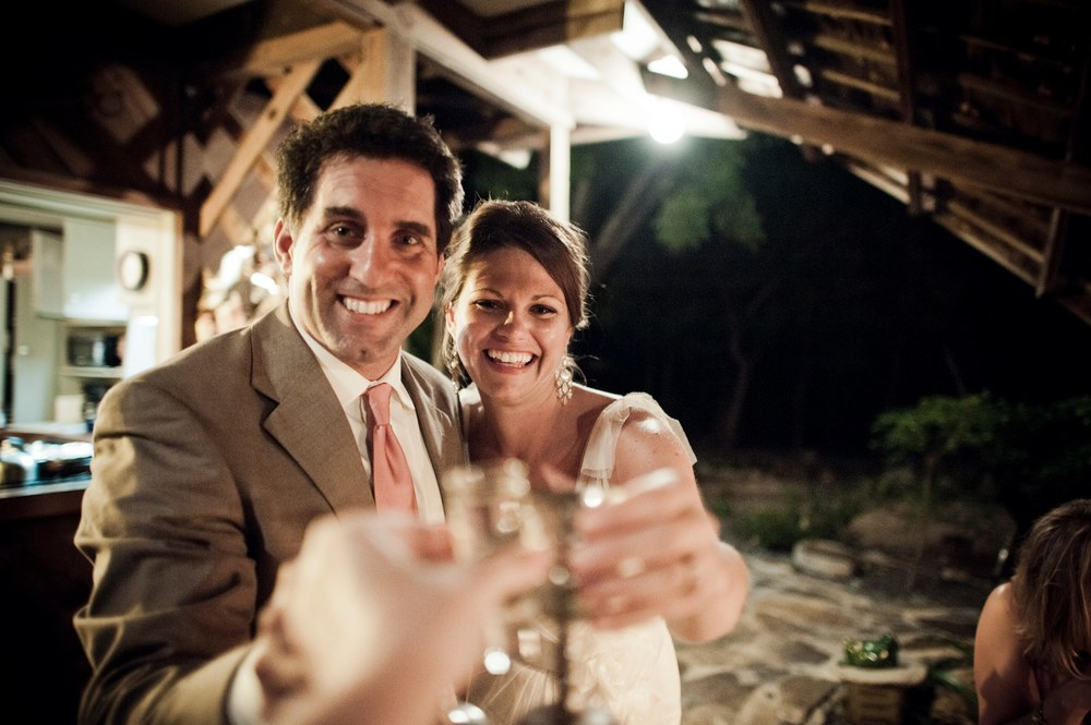 My beautiful wife Dawn and I sharing a shot tequila with our pal and photographer Dennis at our wedding. Cheers!