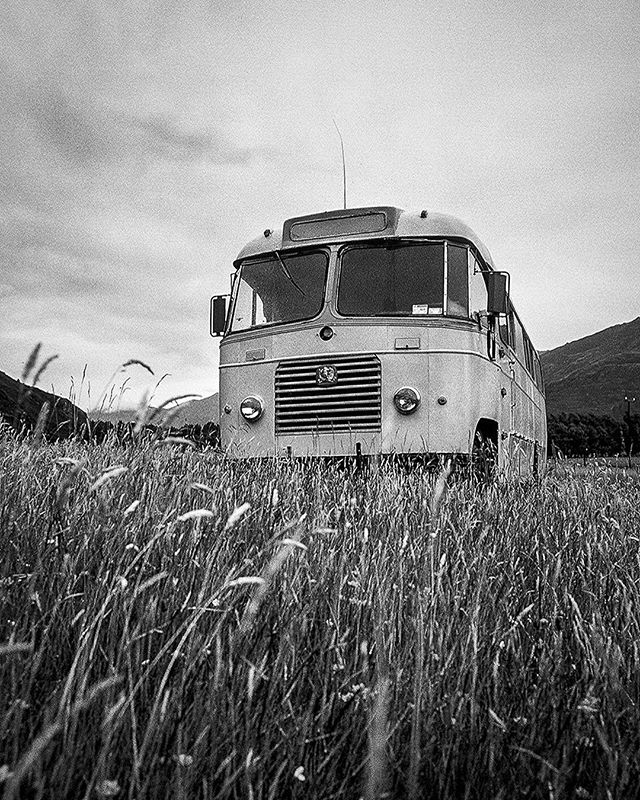 The bus circa 2003.  Makarora, New Zealand.  Fully equipped with turntables, a potbelly, stove, solar power.  This was my pals Dennis and Jamie's home down there.  It functioned as basecamp for many an adventure.  Such a fun solo trip.  Back in 2002/2003 I stuffed my backcountry pack with my tent,sleeping bag, clothes, and a camera and film and explored NZ for about a month.  Hitched rides on planes, helicopters, boats and everything else with two or four wheels.  Took lots of photos, met lots of amazing people, got eaten alive by sand flies, caught salmon under an almost midnight sun, drank lots of kiwi beer amongst other things.  If you've never been to NZ Go!!! It's a magical place.  #newzealand #kiwi #bus #explore #adventure #travel #buslife #travelphotography #travel #nz #southernhemisphere #travelmore #kodak #camping #vagabonding #wanderlust