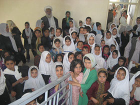 Girls in New School in Herat