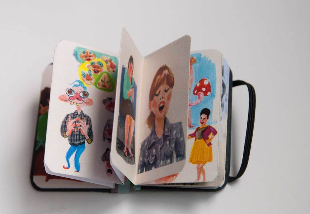 Inside view Tiny, lovely book filled with colorful imagery. By Annie Wong