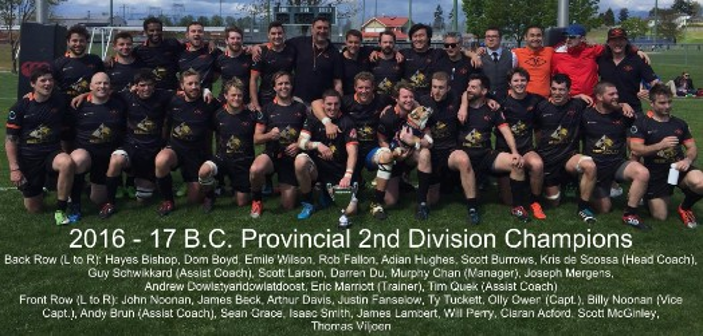 Loma Mens Rugby Div2 2016-2017 Champions