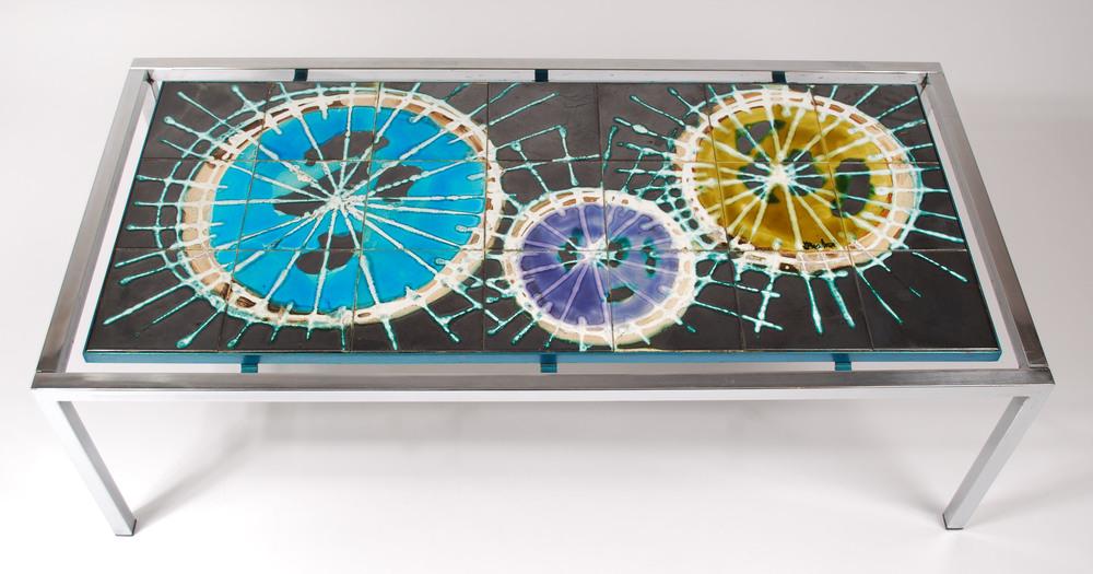 Tile table, J. Belarti Belgium 60's)