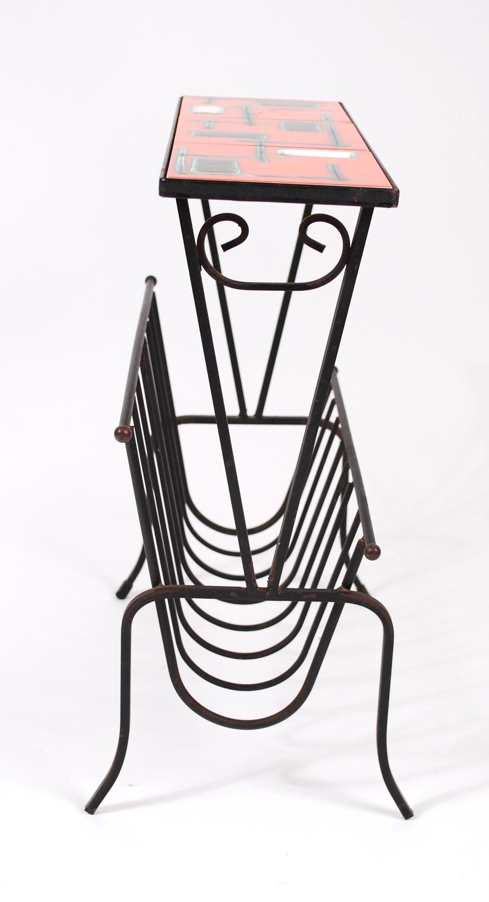 Magazine rack tiles Belgium 60's