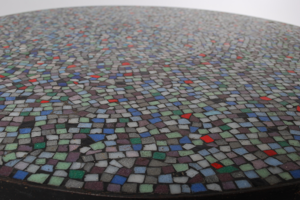 Round mosaic 50's coffee table