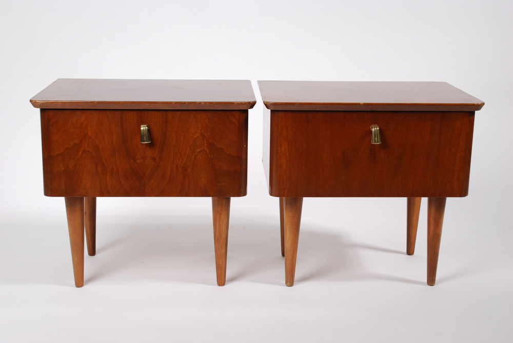 Low bedside cabinets 60's