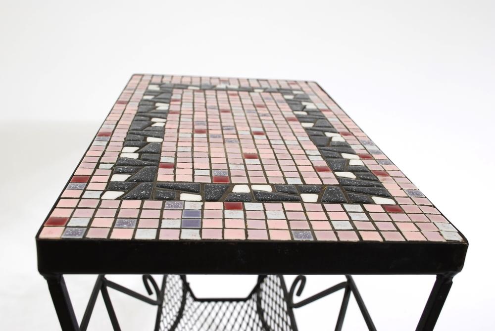 Mosaic magazine rack 60's