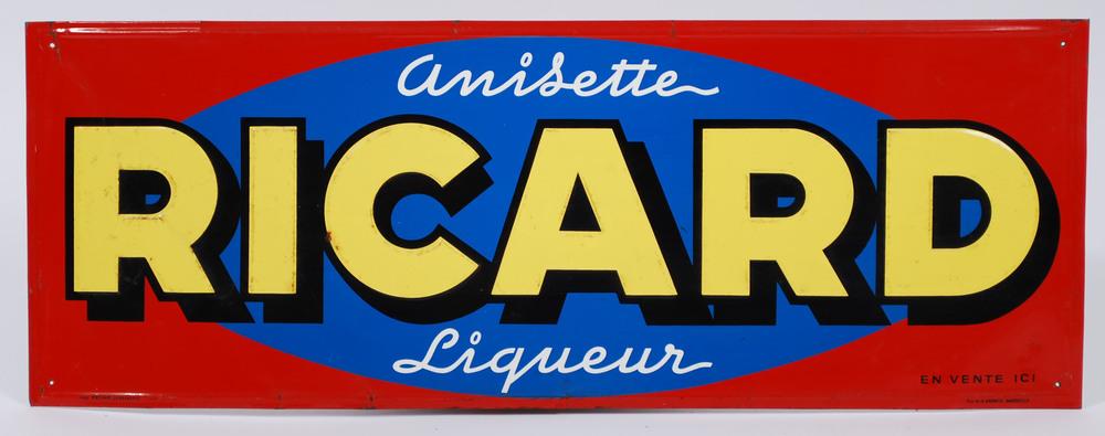 Enamel board Ricard Anisette France 60's