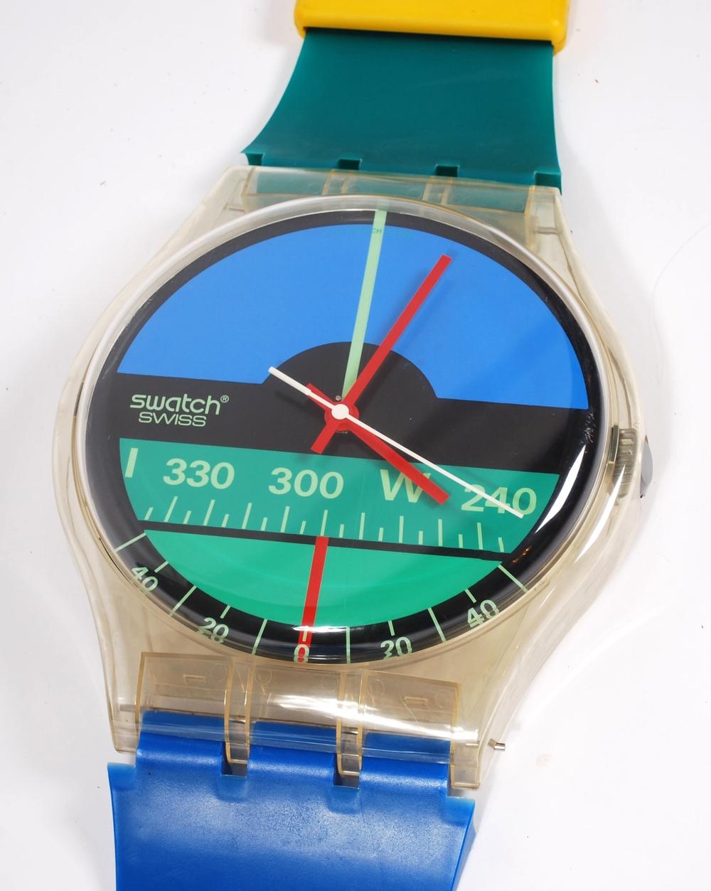 Maxi Swatch Nautilus Aqua Love clock 1986