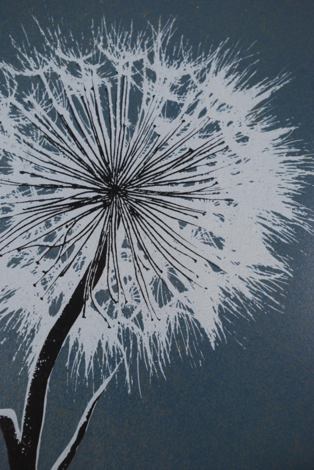 Dandelion original screen print by Ray Waal 60's