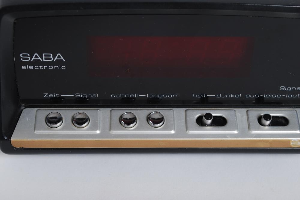 Alarm clock Saba EZ15, 70's, Germany