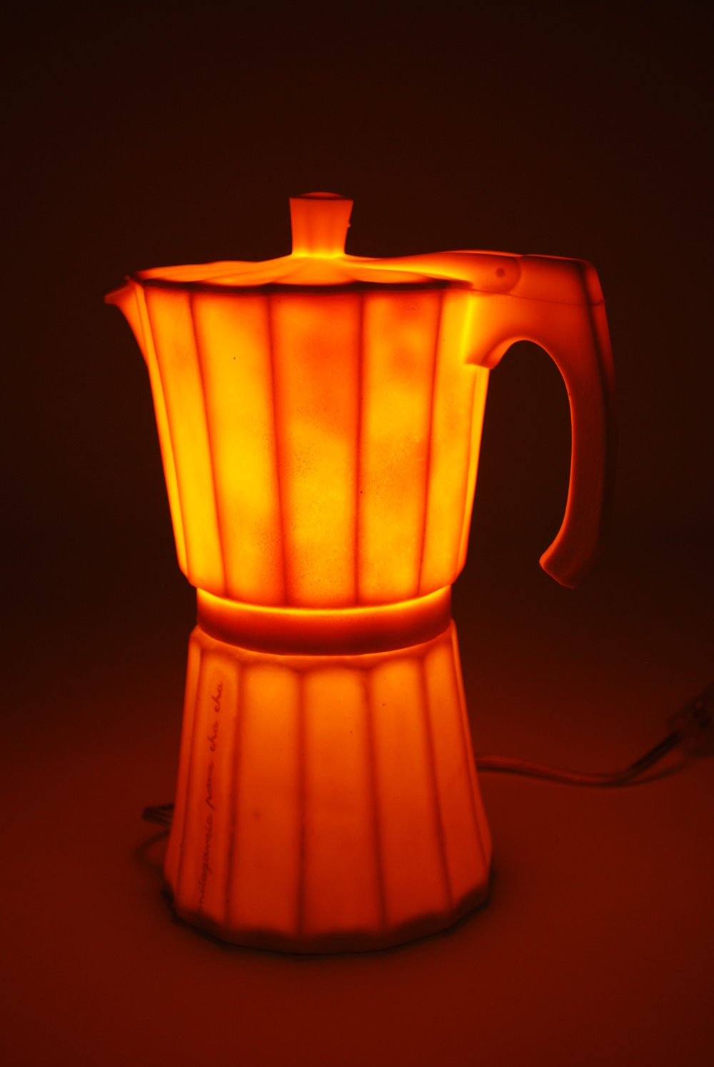 Silicon 'Cafetera' table lamp