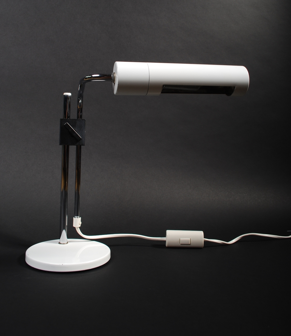 Desk lamp 70's with horizontal shade