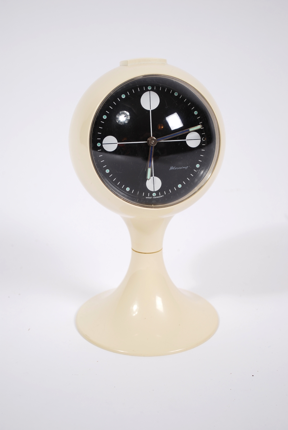 Alarm clock with tulip base 60's, by Blessing, West Germany