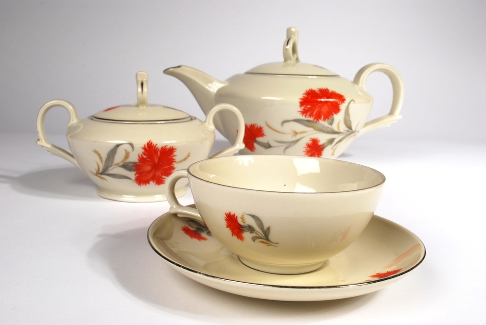 Silesian tea set 1939 C.T. Tielsch Altwasser Germany