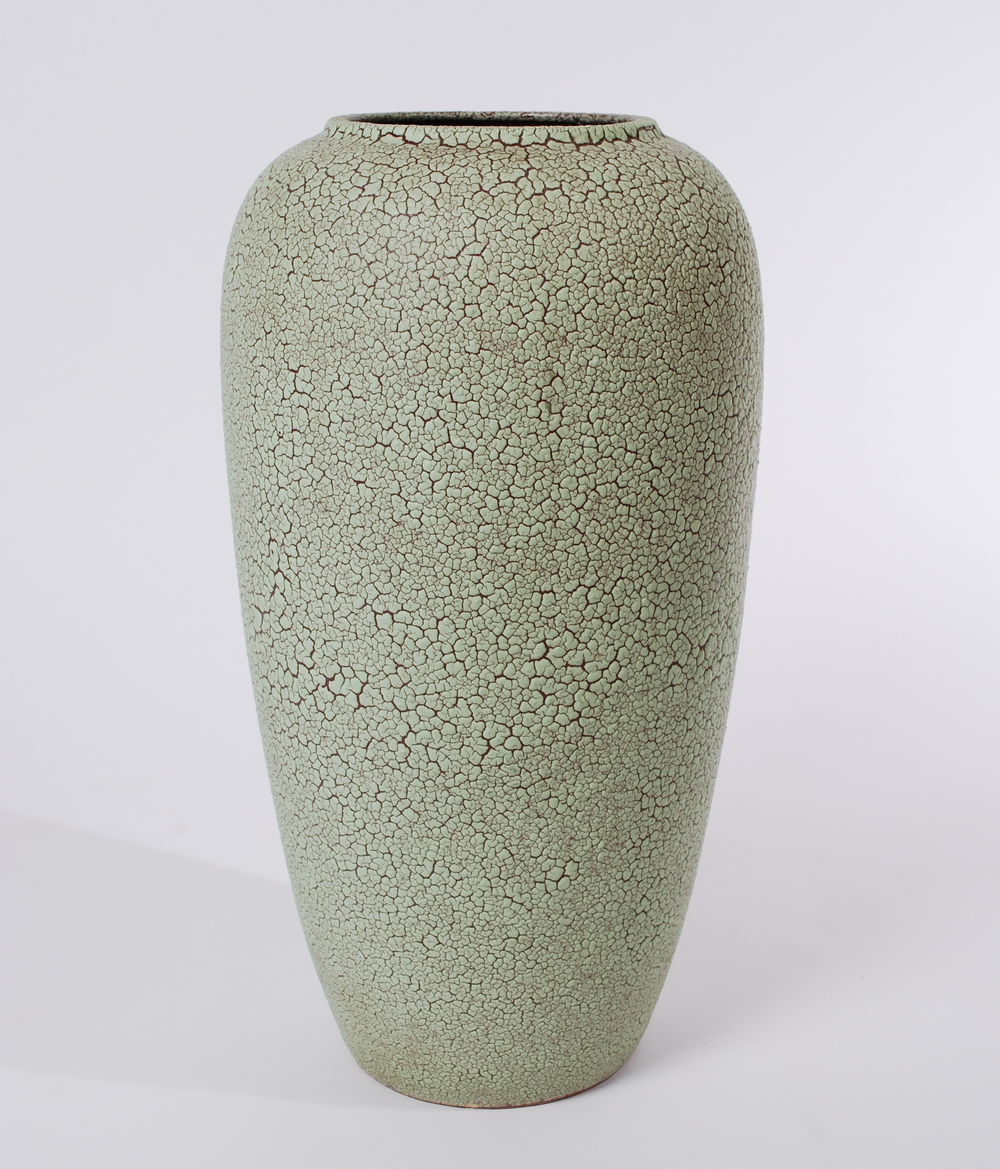 Mint green large lava vase 60's
