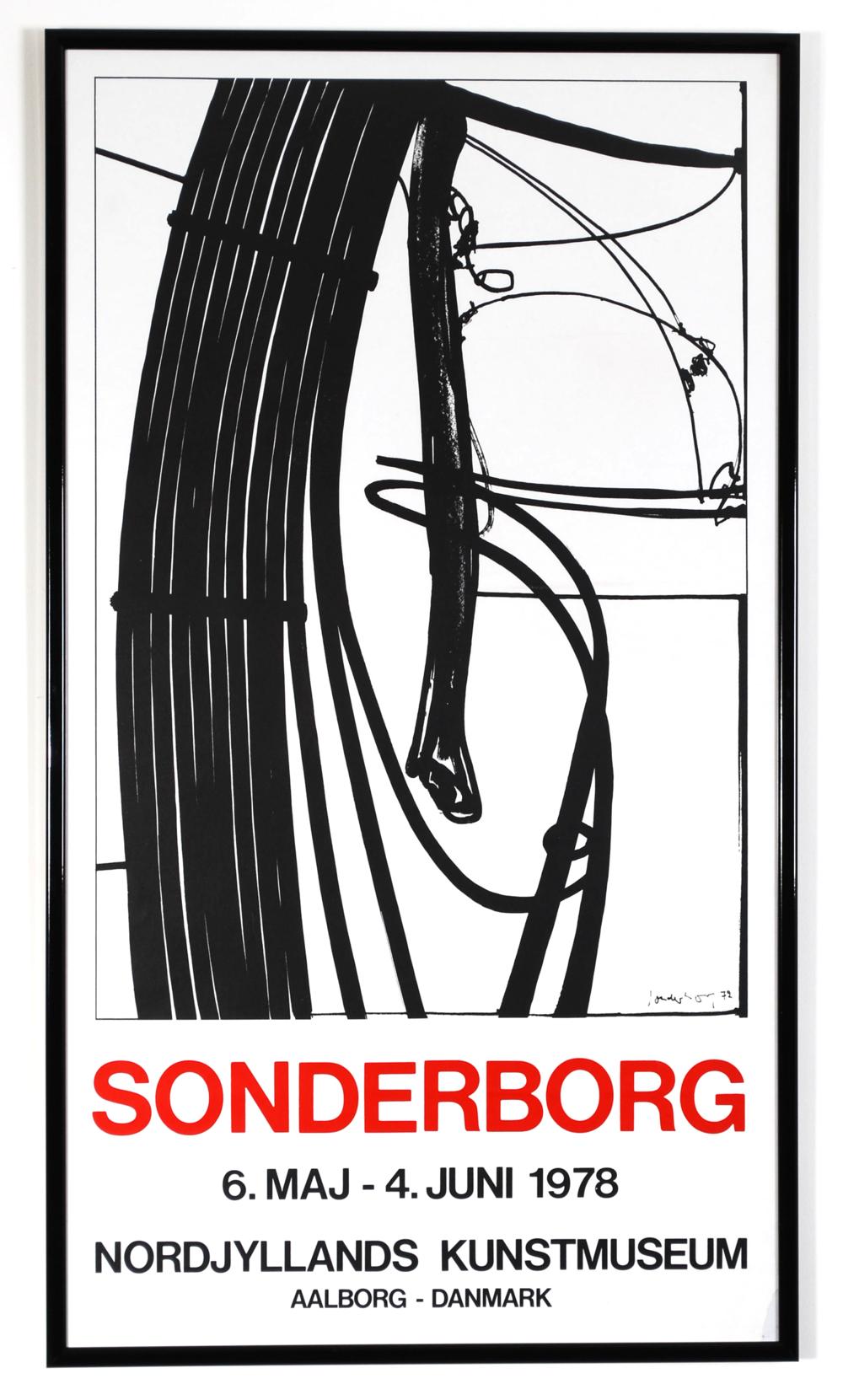 Original poster Sonderborg - Nordjyllands Kunstmuseum - Aalborg Danmark - 1978
