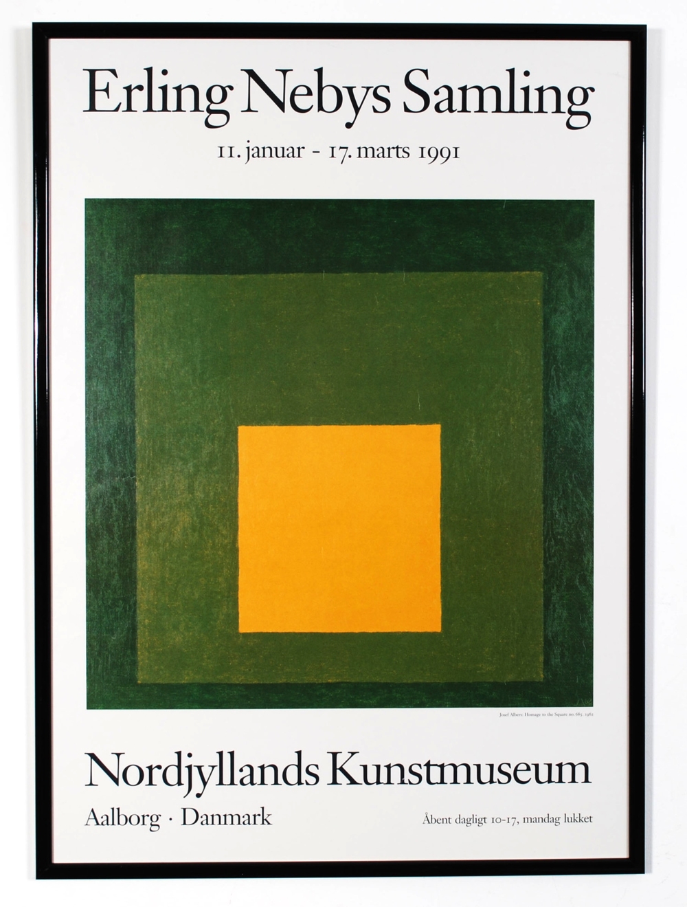 Original poster Erling Nebys Samling - Nordjyllands Kunstmuseum - Aalborg Danmark - 1991  - AVAILABLE
