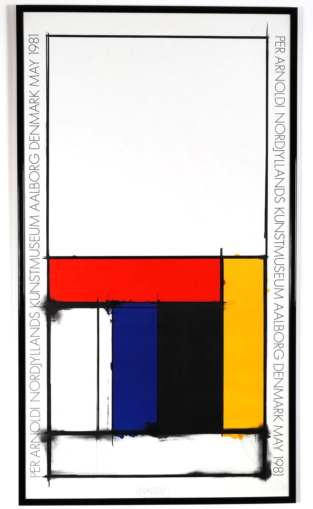 Original poster Per Arnoldi - Nordjyllands Kunstmuseum - Aalborg Denmark - 1981