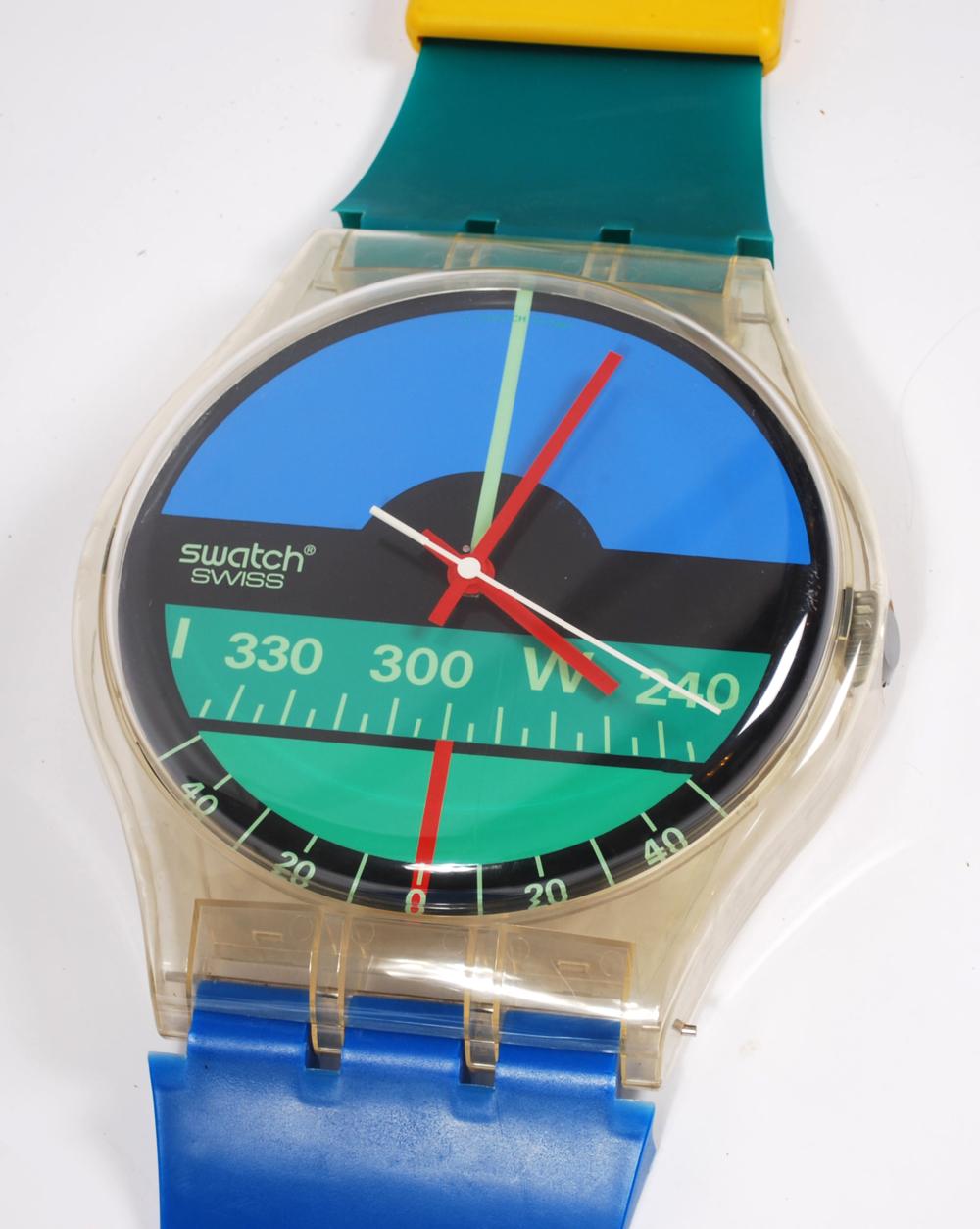Maxi Swatch Nautilus Aqua Love clock 1986  - AVAILABLE