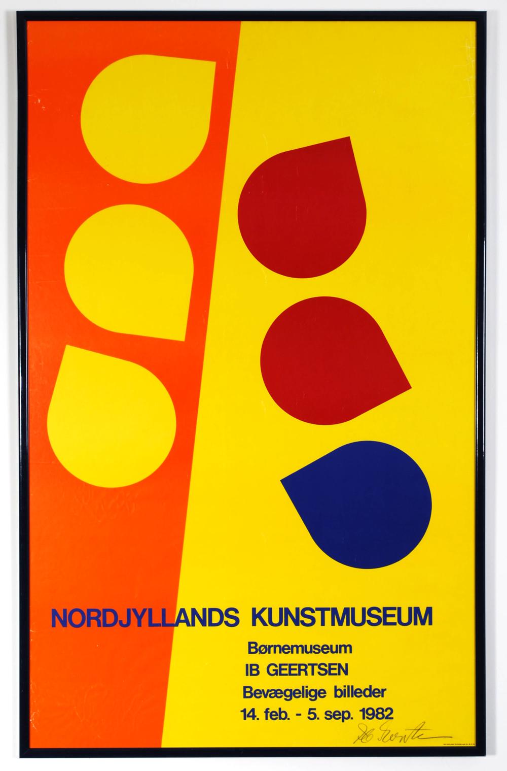 Original poster Ib Geersten - Bevaegelige billeder - Nordjyllands Kunstmuseum - Aalborg Denmark - 1982- (signed by auth  or)  - AVAILABLE