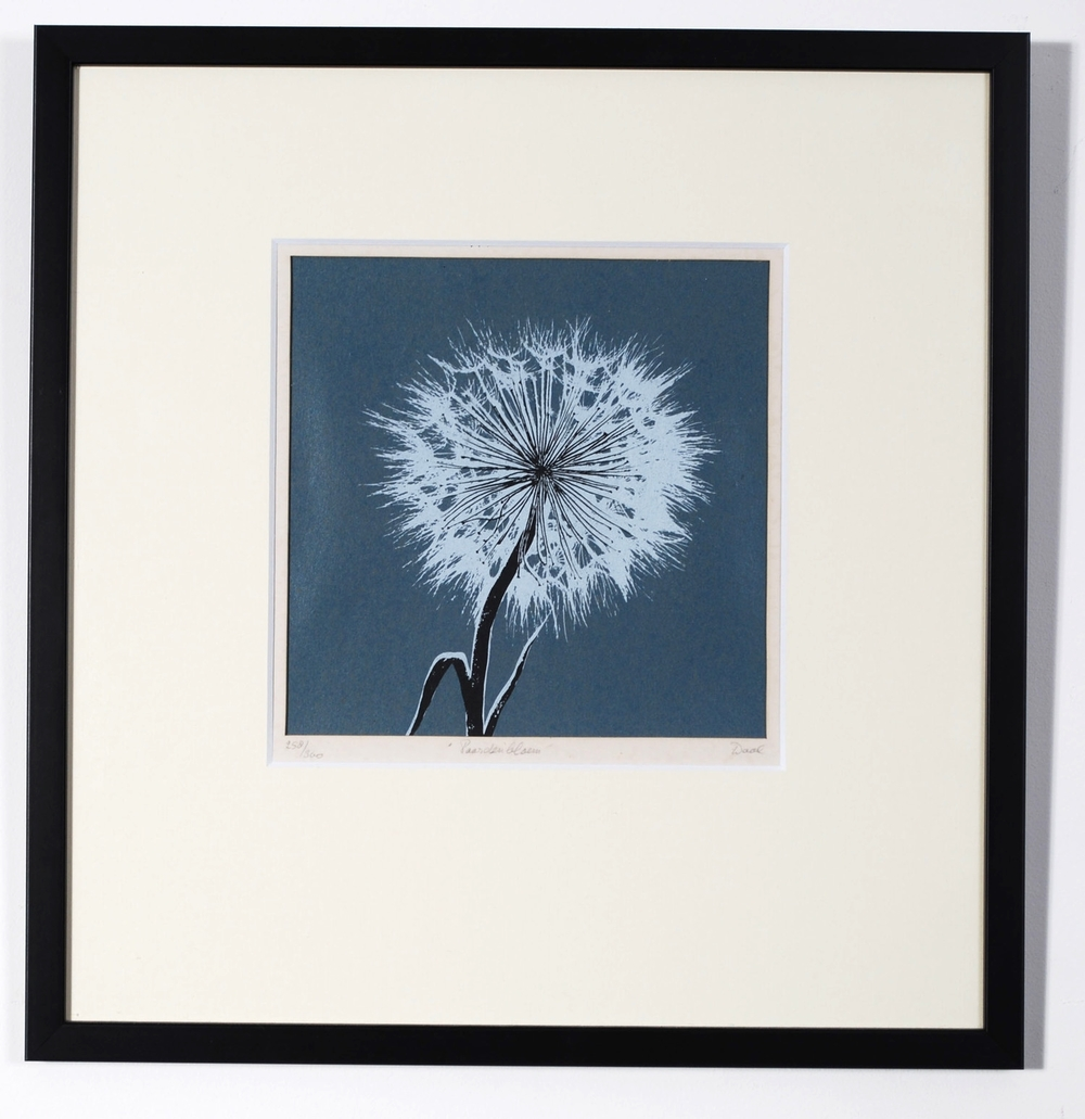 Dandelion original screen print by Ray Waal 60's, signed  - AVAILABLE