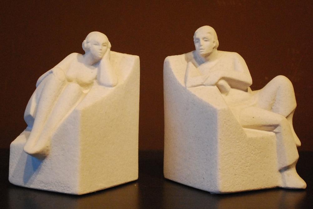 Stone figures Marbell, 80's, Belgium