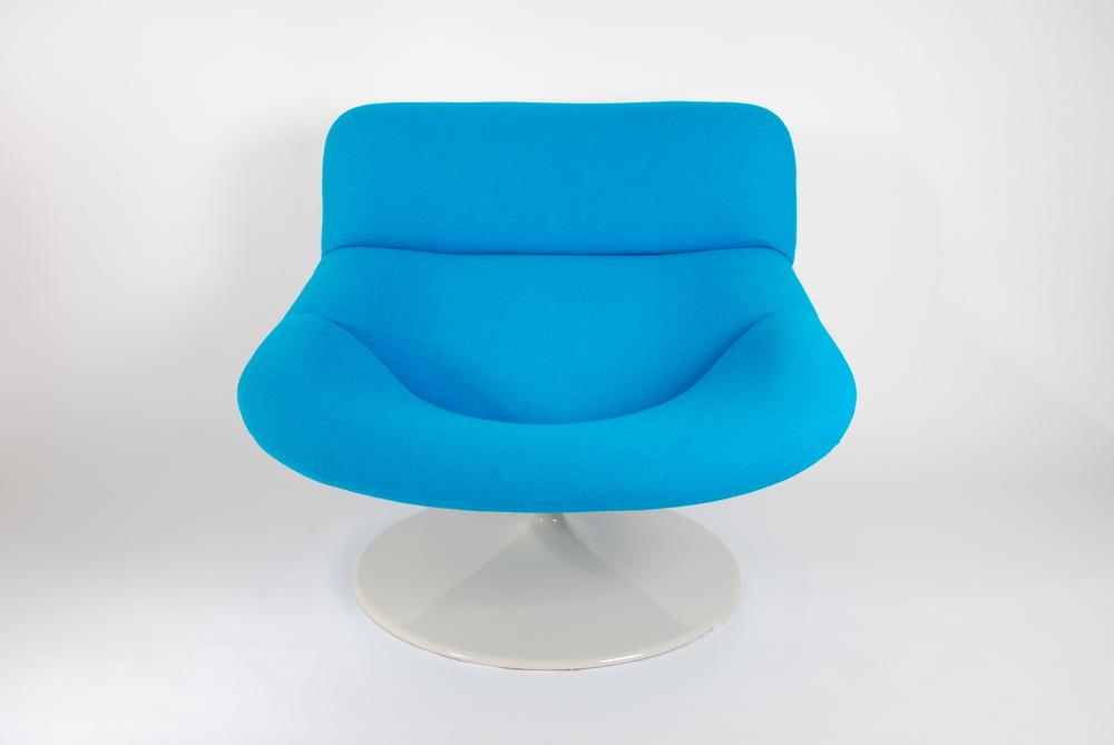 Artifort F518 Lounge swivel chair by Geoffrey Harcourt for Artifort. 1980.