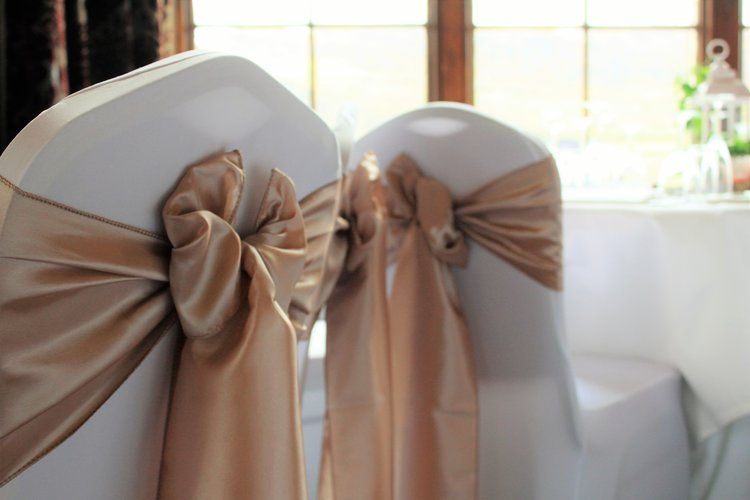 Pretty white wedding planner wedding decorations chair cover hire junglespirit Image collections