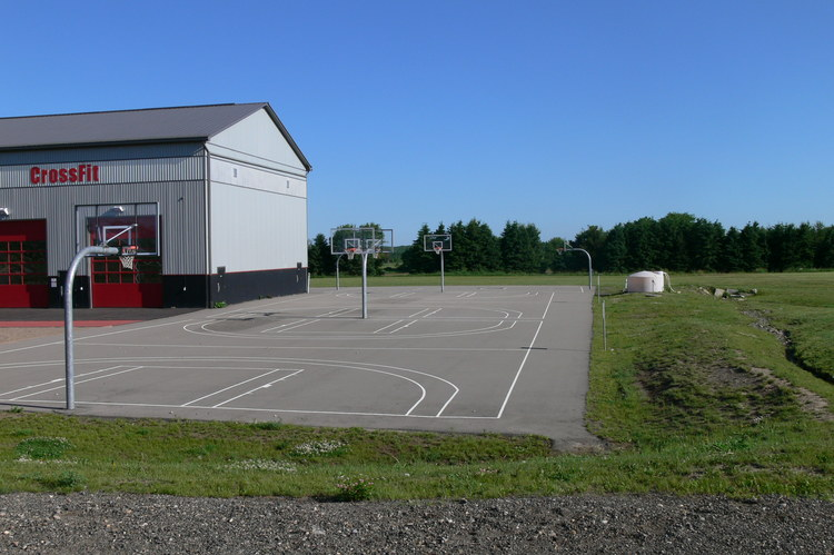 Outdoor Basketball Courts at Athlete Institute