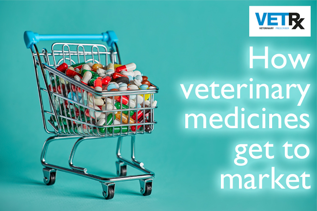 A shopping trolley full of medicines