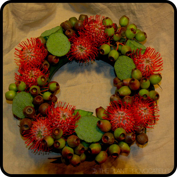 |Pin Cushion + Pods Wreath|