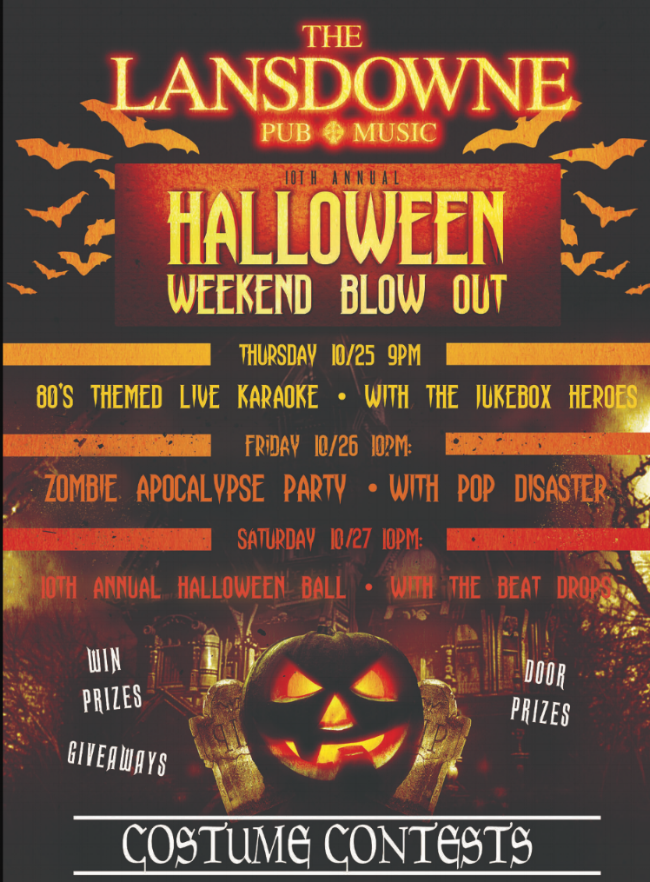 10TH ANNUAL HALLOWEEN WEEKEND BLOW OUT   Sat, Oct 27, 2018, 9:00 PM   ***RSVP DOES NOT GUARANTEE ADMISSION. BASED OFF OF CAPACITY AND AT MANAGER'S DISCRETION***