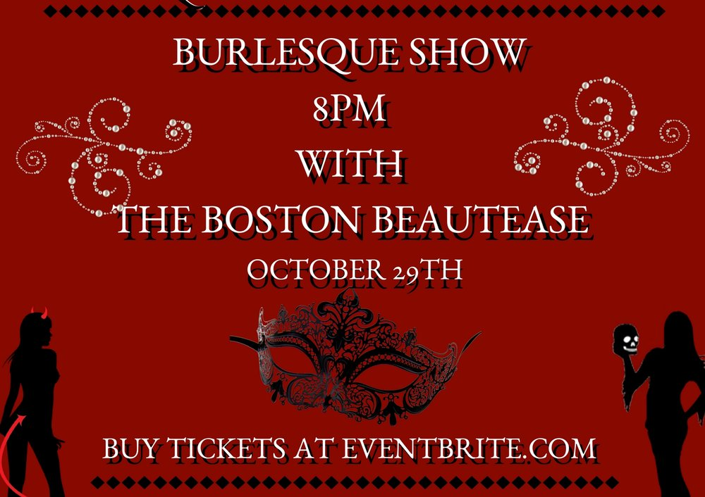 """MASQUERADE MONDAY • BURLESQUE SHOW   Find a mask, wear it well, and your true identity will never tell!   Boston's """"King of Burlesque"""" & his gang are shaking their tail feathers  #liveatlansdowne  for an EXTRA special  #MasqueradeMonday  Burlesque Show!   #MasqueradeMonday Burlesque Show • Monday, October 29th • 8pm • Acts including burlesque, tap-dancing, magic acts, and a comedy number, • Masquerade costume contest • Specialty Halloween themed cocktails • Full dinner menu served including Neighborhood Night deals • $1 oysters, $5 burgers, 50 cent wings   21+  #LiveAtLansdowne   ****BUY TICKETS*****"""