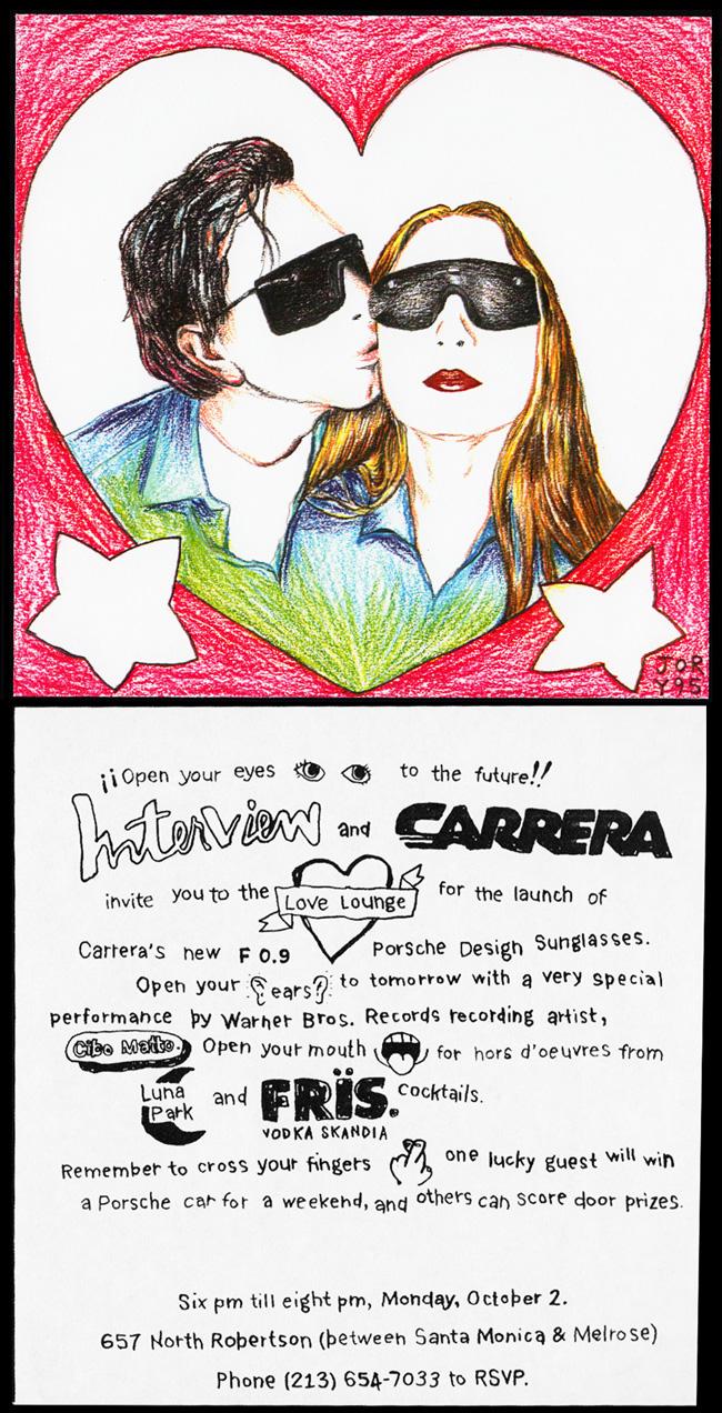 Interview Magazine and Carrera Sunglasses