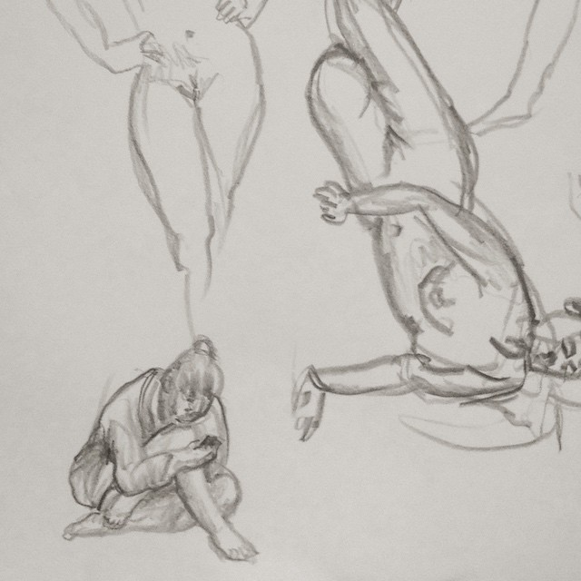 Two minute poses and the break between poses.