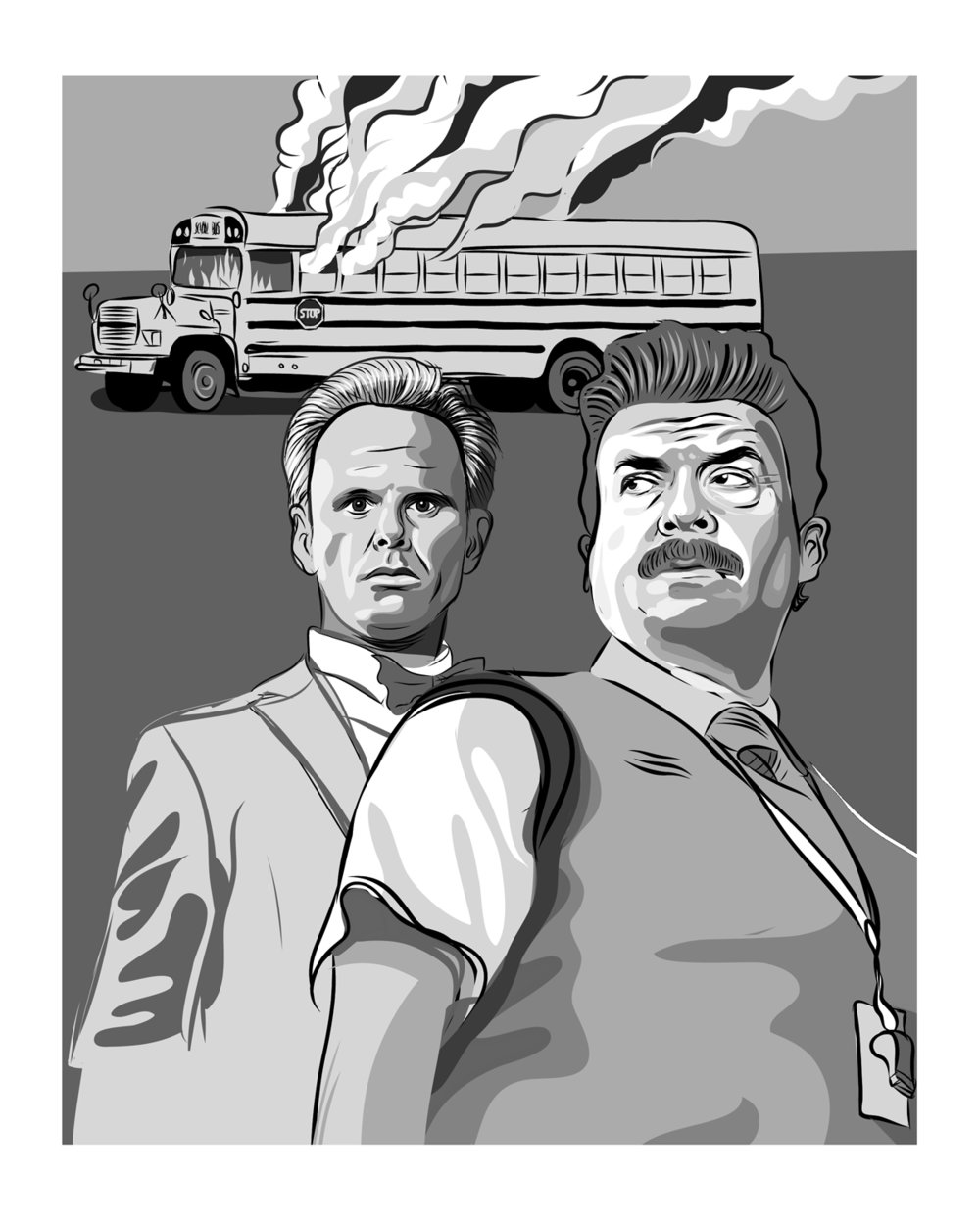 Vice Principals - sketch, vector art