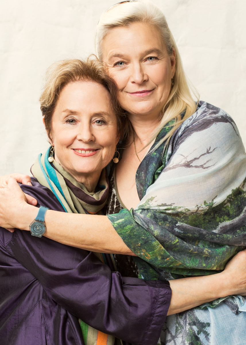 Alice Waters and Nell Newman