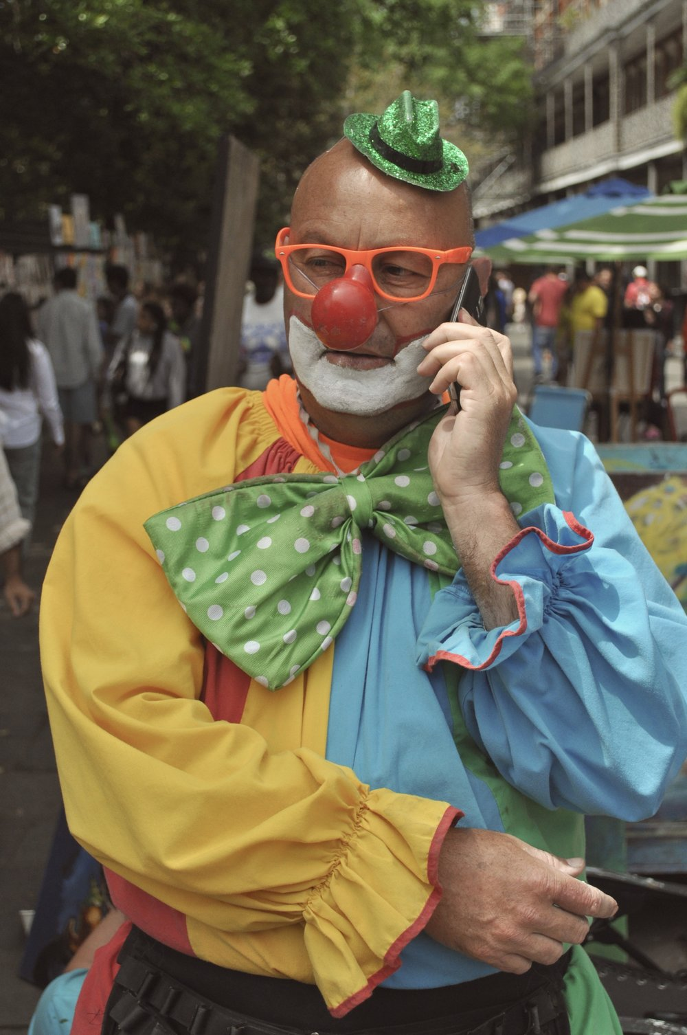 Clown On The Phone T.JPG