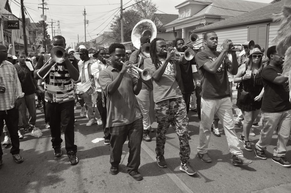 Second Line On Oak Street T.JPG