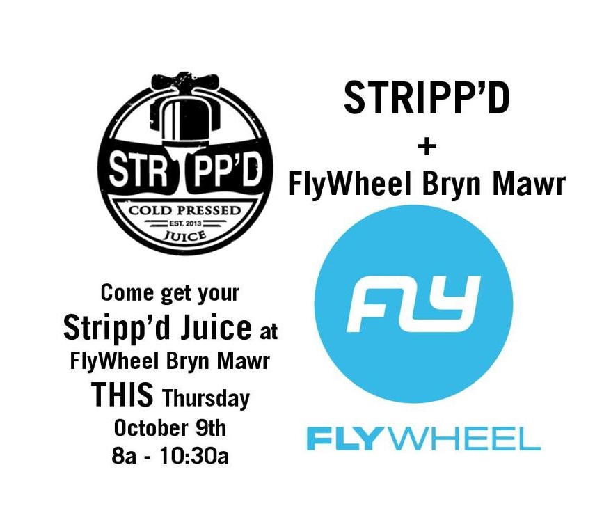 Stop by  FlyWheel Bryn Mawr  ( 711 W Lancaster Ave #300, Bryn Mawr, PA)  for your pre- or post-workout needs. We'll have Dan-the-Lion, Jala At Ya Boy! and the best Almond Milk around.