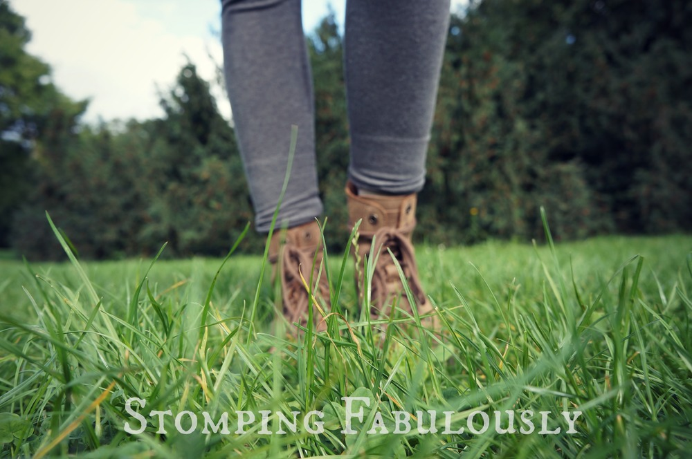 boots in the grass
