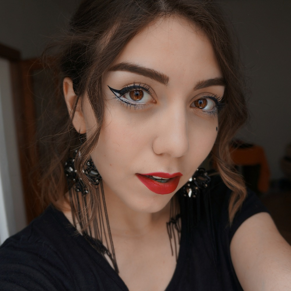Mod Goth Inspired Makeup Marinasays