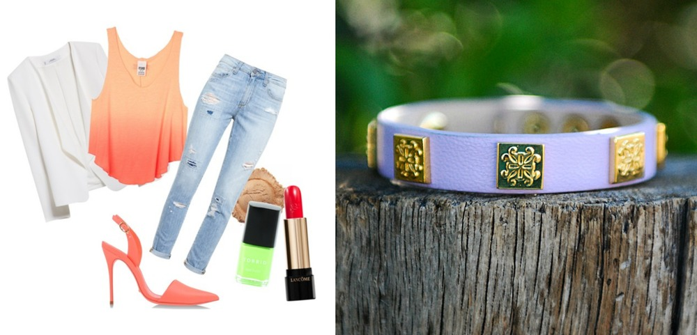 Casual Outfit For Rustic Cuff Meagen Wrap Bracelet / www.MarinaSays.com