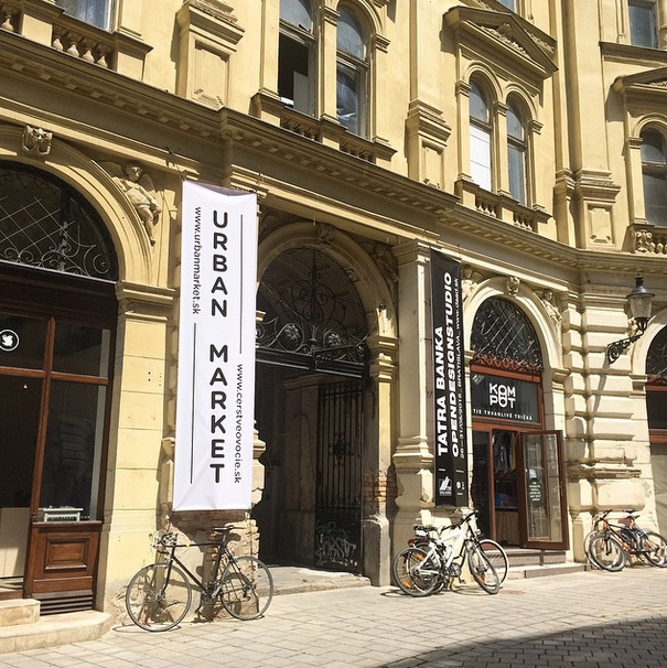 Laurinska St. Entrance to Urban Market, Bratislava 2015