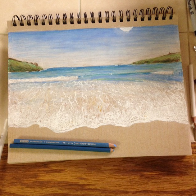 Drawing of the beach